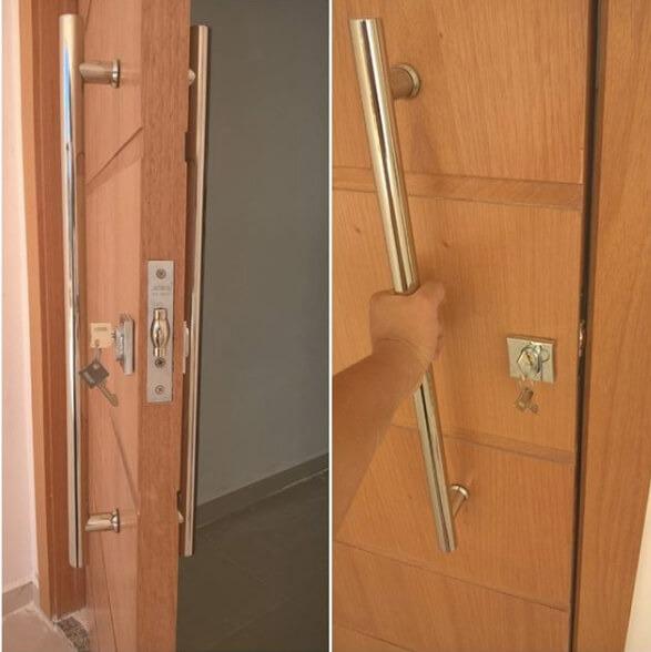 Fechadura para porta pivotante